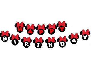 Minnie Mouse Banner for kids Birthday Disney birthday party cute Minnie banner