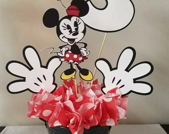 Minnie Mouse Centerpiece Minnie Number Centerpiece Mickey Mouse Centerpiece