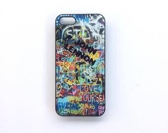 Shell phone Iphone 5 / 5s hard black plastic