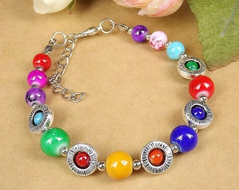 NEW Colorful Beads Fashion Jewelry Jade Bracelet Gift - D11