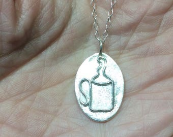 Handcrafted fine silver Cuppa