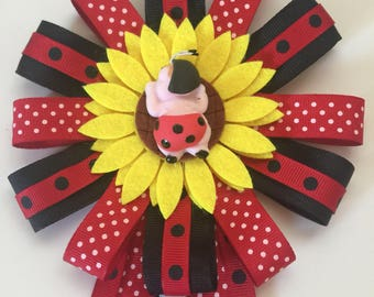 Lady Bug Baby Shower Corsage