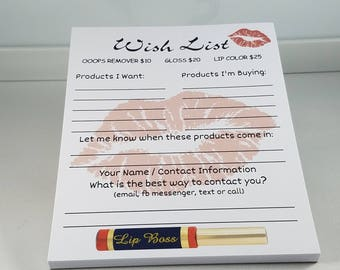 Lipsense Wish List Pad