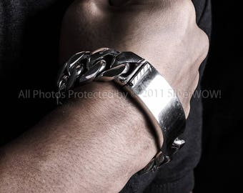 Mens ID Bracelet - Heavy 20mm Version -   Chunky identity Bracelet of Outstanding Quality