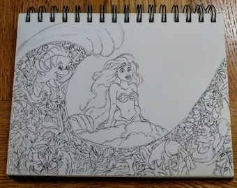 A4 The Little Mermaid drawing