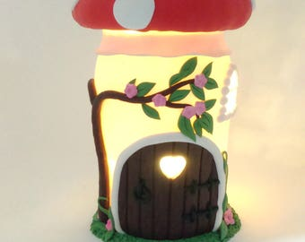 Toadstool Fairy house Night Light