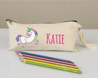 Unicorn pencil case, pencil case for kids, pencil cases boxes, pencil cases personalized, unicorn pencil boxes, cotton pencil case, pony bag
