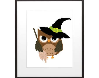 Modern Interior Cross Stitch Pattern Halloween 7 , PDF pattern ** instant download**