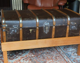 Steamer Trunk, Coffee Table, Pitch Pine