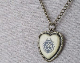 heart of the LDS relief society emblem necklace