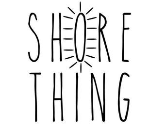 Shore Thing SVG