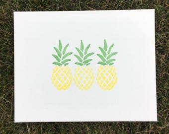 3 Pineapple Canvas - 4 colors
