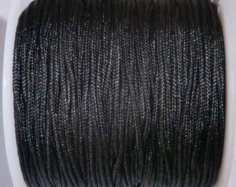 5M nylon string, rat tail, black 1 mm