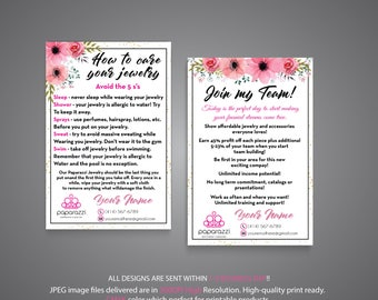 Paparazzi Join My Team Card, Paparazzi Care Instruction, Personalized Paparazzi, Paparazzi Marketing, Custom Paparazzi Card, Printable PP72