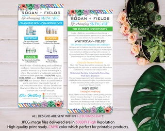 Rodan and Fields Business Opportunity, Why Rodan + Fields Card, RF Product Cards, Business Opportunity Flyer, Digital files RF04