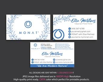 Custom Monat Business Card, Monat Business Card, Monat Watercolor Business Card, Custom Monat Hair Care Card, Printable Business Card MN27