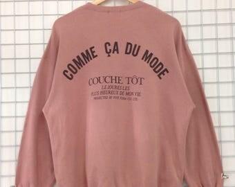 Vintage Comme Ca Du Mode Sweatshirts Big Logo Nice Design