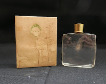 ancien flacon à parfum de collection parfumerie Coty, boite d'origine, vecchia bottiglia di profumo da collezione, ol perfume bottle