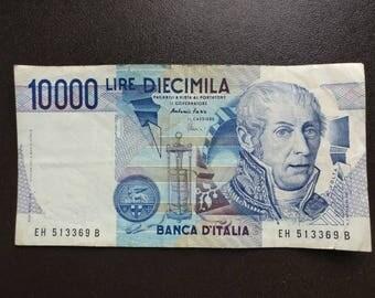 10000 LIRE BANCA D'ITALIA