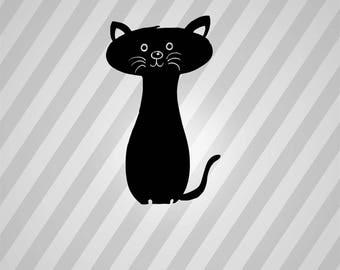 Black Cat - Svg Dxf Eps Silhouette Rld RDWorks Pdf Png AI Files Digital Cut Vector File Svg File Cricut Laser Cut