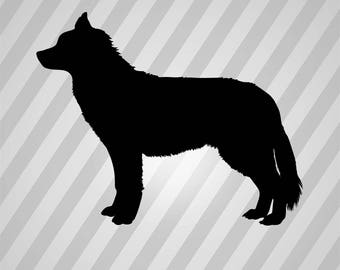 husky dog Silhouette - Svg Dxf Eps Silhouette Rld RDWorks Pdf Png AI Files Digital Cut Vector File Svg File Cricut Laser Cut