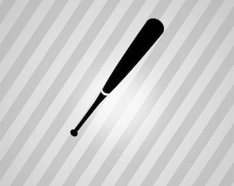 baseball bat Silhouette - Svg Dxf Eps Silhouette Rld RDWorks Pdf Png AI Files Digital Cut Vector File Svg File Cricut Laser Cut