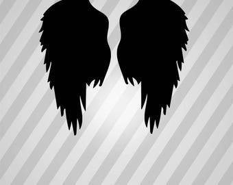 Wings 3 Silhouette - Svg Dxf Eps Rld Rdworks Pdf Png Ai Files Digital Cut Vector File Svg File Cricut Laser Cut