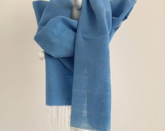 OPENING SALE 30% OFF organic, flosh silk, blue, free shipping
