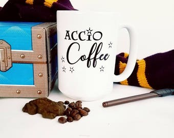 Magical Coffee Cup, Wizard Inspired Mug, Fun Nerdy Gift, Coffee Lover Mug, Unique Geeky Gift, Coffee & Tea Cup, Funny Ceramic Mug, Spell Mug