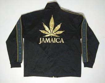 Jamaica Rastafarian Reggae Zipper Jacket Size XL