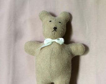 Cashmere Teddy Bear Handsewn from repurposed sweater