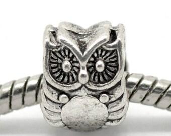 1 Pearl OWL 10 * 8 mm p/bracelet charms
