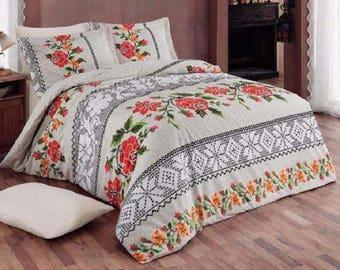 Linen Coverlet, Linen Bedspread, Linen Blanket,  03