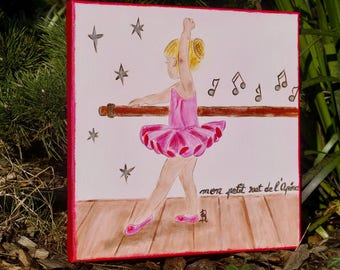 Customizable child painting ballerina painting