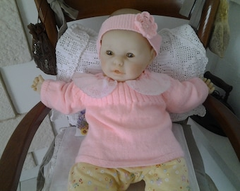 Baby Pink knit top size 6 months