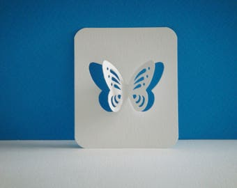 Cut paper Butterfly design white 3D for table decoration