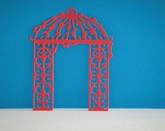 Cutout lattice Ark sheet red foam for climbing flowers (only in foam)
