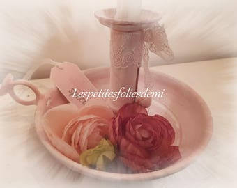 A little something special old candlestick revisited shabby chic