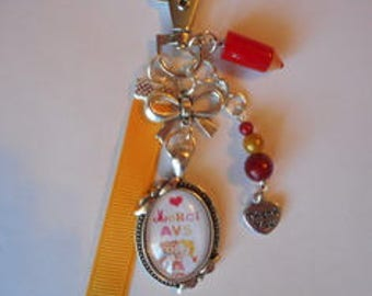 "Keychain bag charm / ""AVS thank you"" / year end gift / thank you"