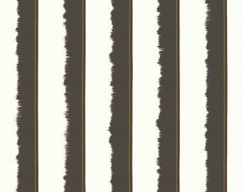 Fabric, ribbons, stripes, gray PANAREA, thévenon