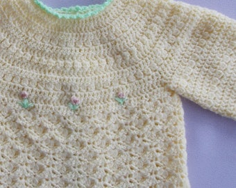 Newborn baby girl clothing, premature baby clothing woolen dress