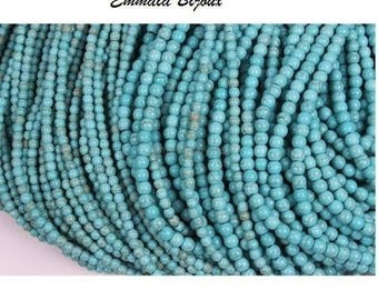 50 Howlite beads 4 mm turquoise natural stone