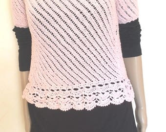 T shirt romantic pale pink