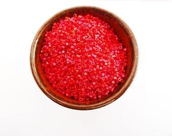 5 g of miyuki delica 11 beads 0 red opaque gloss 214