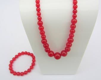 red agate bracelet and necklace