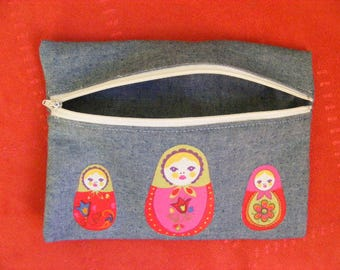 Pocket jeans three Russian dolls