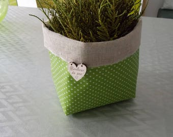 Laminated cotton fabric and linen veil(sail) planter