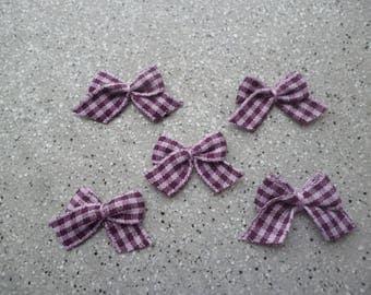 5 knots cotton appliques of purple lace