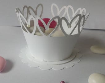 Containing sweets wedding heart table decoration