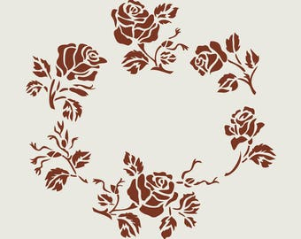 Adhesive vinyl stencil. Crown of roses (ref 40)
